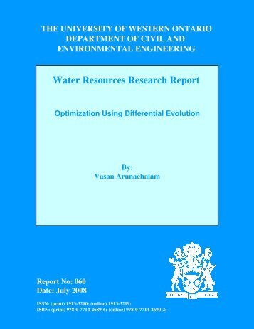 Water Resources Research Report - Western Engineering ...