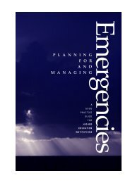 Emergencies - Planning for and Managing - Cabinet Office