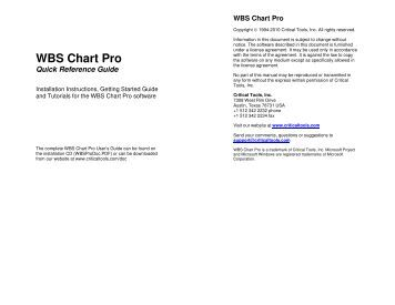 WBS Chart Pro Quick Reference Guide (WBSGuide.pdf - Critical Tools
