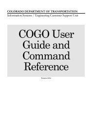 COGO Manual - Colorado Department of Transportation
