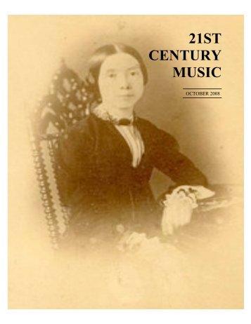 October - 21st Century Music