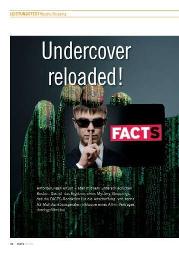 Leistungstest: Undercover reloaded! - FACTS Verlag GmbH