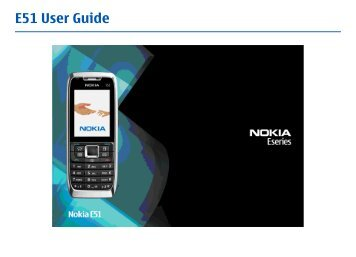 E51 User Guide - Nokia