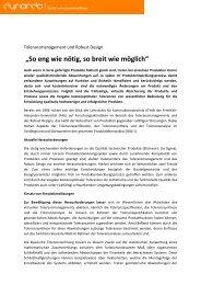 """So eng wie nötig, so breit wie möglich"" - Dynardo GmbH"