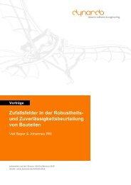 Zufallsfelder in der Robustheits- und ... - Dynardo GmbH
