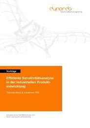 Effiziente Sensitivitaetsanalyse in der industriellen ... - Dynardo GmbH