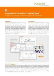 Integration of SimulationX® into optiSLang® - Dynardo GmbH