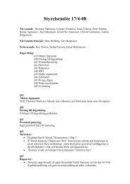 Styrelsemöte 17/4-08 - Dynapac