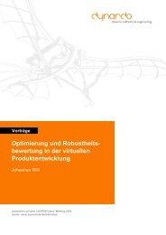 Vorträge Optimierung und Robustheits - Dynardo GmbH