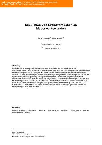 Simulation von Brandversuchen an ... - Dynardo GmbH