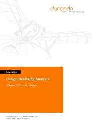 Lectures Design Reliability Analysis - Dynardo GmbH