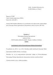 Raport bieżący 53/2007 - FAM Grupa Kapitałowa S.A.