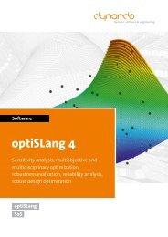 Brochure optiSLang 4 - Dynardo GmbH