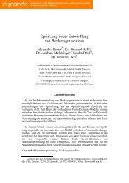 OptiSLang in der Entwicklung von ... - Dynardo GmbH
