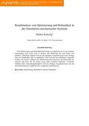 2.4 Kombination von Optimierung und Robustheit - Dynardo GmbH