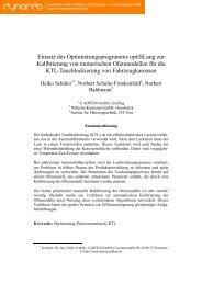 3.2 Semi-automatische Kalibrierung eines ... - Dynardo GmbH