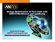 Design Optimization of Flow Path with ANSYS-Workbench and ...