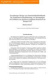 5 Optimierung der Bondgeometrie hinsichtlich ... - Dynardo GmbH