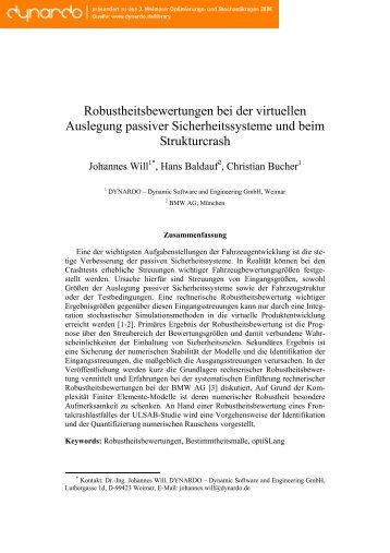 Statistischer Maße für rechnerische ... - Dynardo GmbH