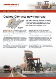 New Dynapac SD pavers for Dezhou ring road