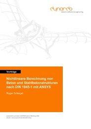 Nichtlineare Berechnung von Beton und ... - Dynardo GmbH