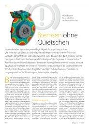 CADFEM Infoplaner 02/2011 Bremsen ohne Quietschen