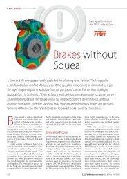 Brakes without Squeal - Dynardo GmbH