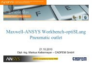 Maxwell-ANSYS Workbench-optiSLang Pneumatic ... - Dynardo GmbH