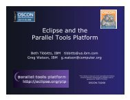 Eclipse and the Parallel Tools Platform