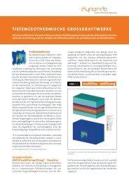 TIEFENGEOTHERMISCHE GROSSKRAFTWERKE - Dynardo GmbH