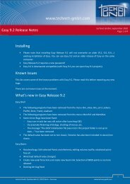 Easy 9.2 Release Notes Installing Known Issues ... - technet GmbH