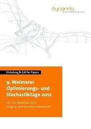 9. Weimarer Optimierungs- und  Stochastiktage 2012 - Dynardo GmbH
