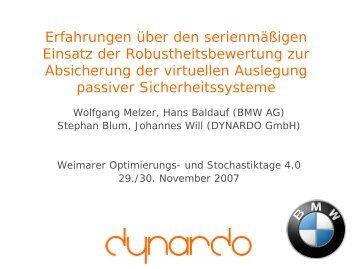Auswirkungen auf das Simulationsmodell - Dynardo GmbH