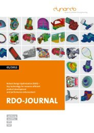 01/2012 RDO-JOuRnaL - Dynardo GmbH