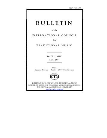 BULLETIN - International Council for Traditional Music