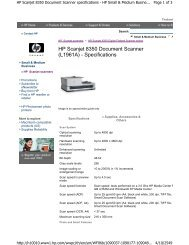 HP Scanjet 8350 Document Scanner (L1961A) - Specifications