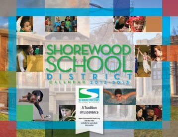 2012-2013 printed calendar - Shorewood School District