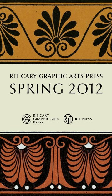 SPRING 2012 - RIT Press - Rochester Institute of Technology