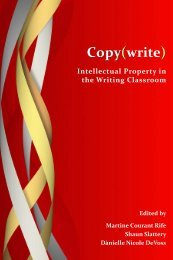Copy(write) - the WAC Clearinghouse - Colorado State University