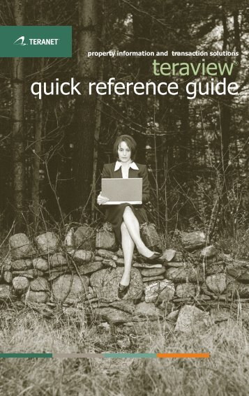 teraview® quick reference guide - Teranet eXpress