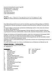 Altbestandssystematik - Deutsches Zentralinstitut für soziale Fragen