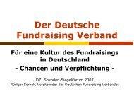 Fundraising als Kultur und Profession in Deutschland