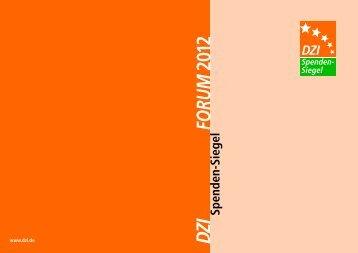 Spenden-Siegel 2012 FORUM