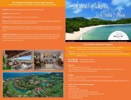 The Westin Golf Resort & Spa, Playa Conchal Promotional Incentive ...