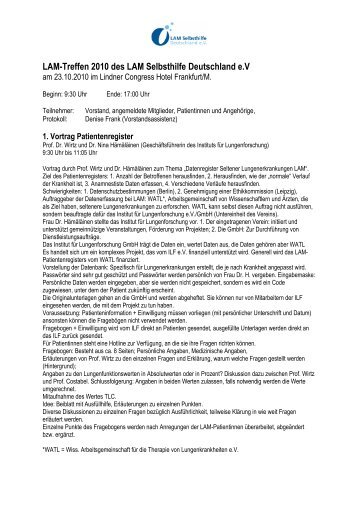Protokoll_Patiententreffen 2010 - LAM-Verein