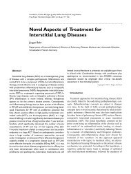 Novel Aspects of Treatment for Interstitial Lung Diseases - Karger