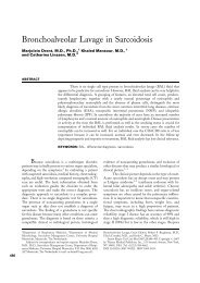 Bronchoalveolar Lavage in Sarcoidosis
