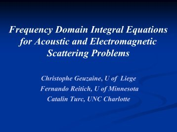 Frequency domain integral equations for acoustic and electromagnetic
