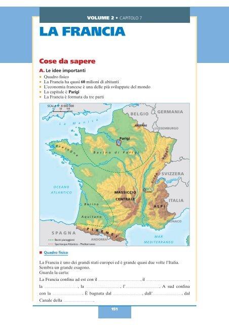 Cartina Monti Francia.Volume 2 La Francia Benvenuti Nella Scuola Italiana
