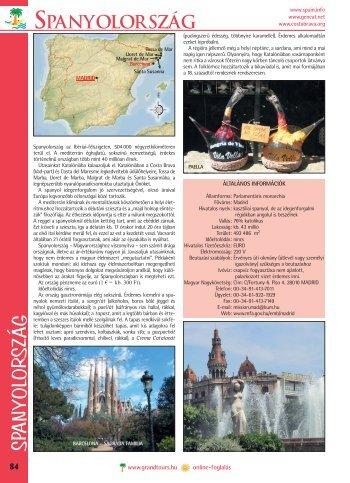 spanyolország - Grand Tours